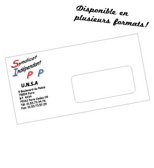 Enveloppe 11x22cm avec fenetre